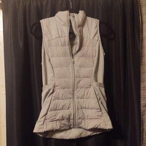 Lululemon Goose Filling Grey Vest Size 6